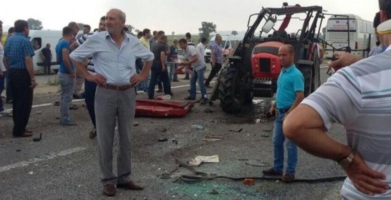 Ağaköy'de Trafik Kazası 2 Yaralı